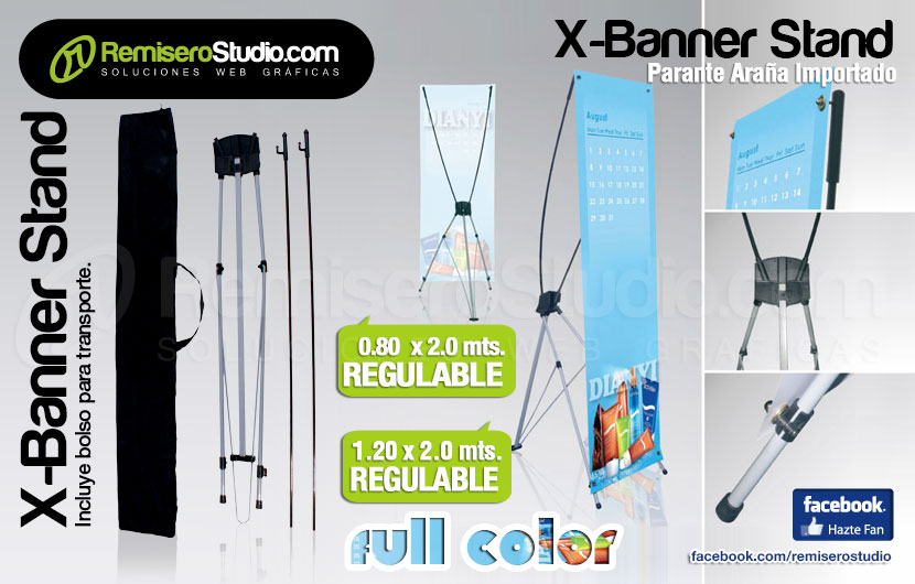 X-Banner Stand Display Regulable para Eventos y Exposiciones