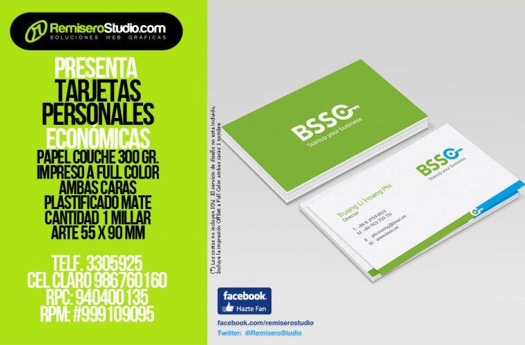 Tarjetas Personales Económicas S/. 60 Soles el Millar