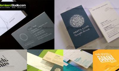 Tarjetas elegantes: Tarjetas de presentación en papeles finos y cartulinas ecológicas