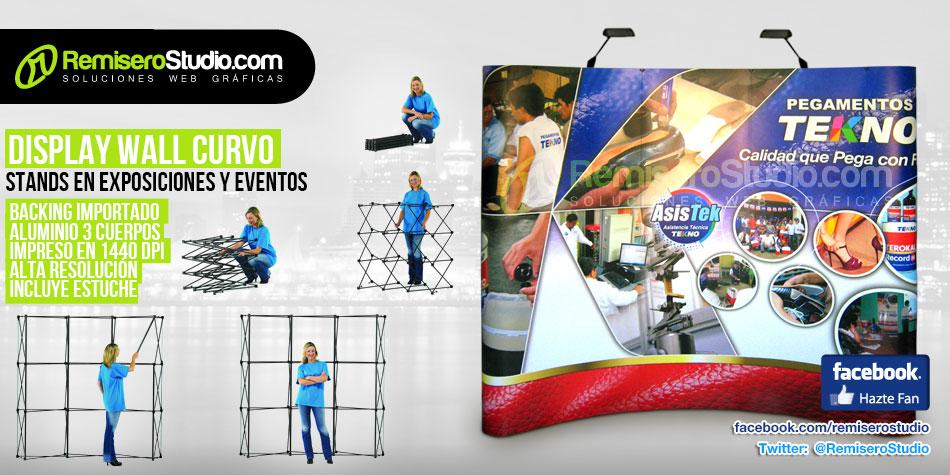 Display Wall Curvo - Para Stand en Exposiciones y Eventos 2013
