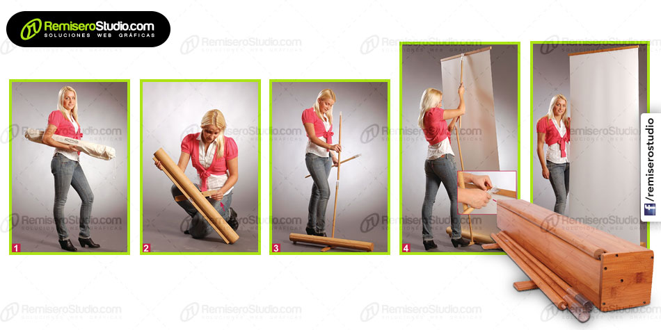Bamboo Roll Up Banner Stand en Perú