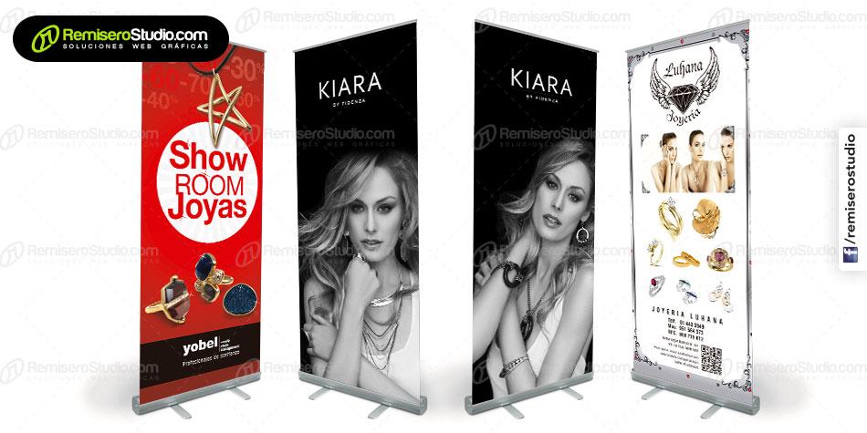 Nuevos Banner + Roll Screen impresos para Joyerías en Perú