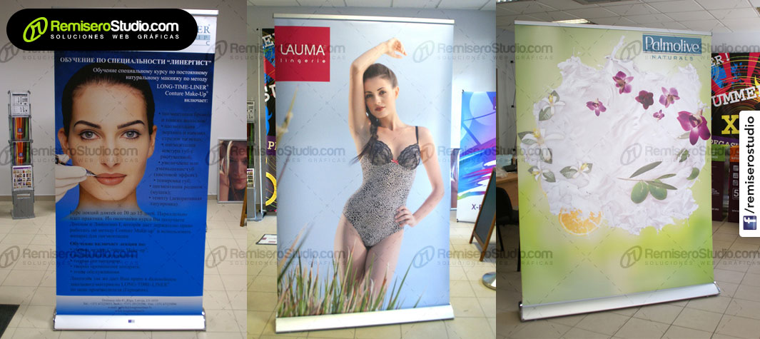 Roll Up Banner Luxury en Perú + Smooth Banner
