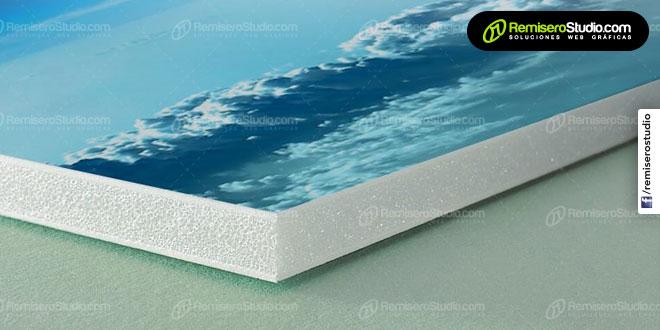 Impresión en vinil adhesivo sobre plancha de FOAM espuma de 5 mm