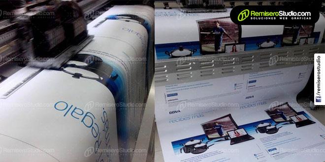 Imprimiendo viniles para nuestros cliente el BBVA Banco Continental