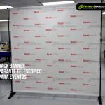 Rack Banner, Parante telescópico para eventos