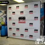 Rack banner – Parante Telescópico – 2.40 x 2.40 metros – Backing para eventos