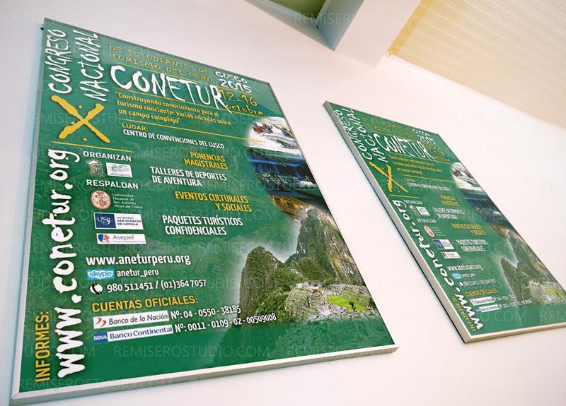 Afiche X Congreso Nacional de Estudiantes de Turismo Conetur Cusco 2015