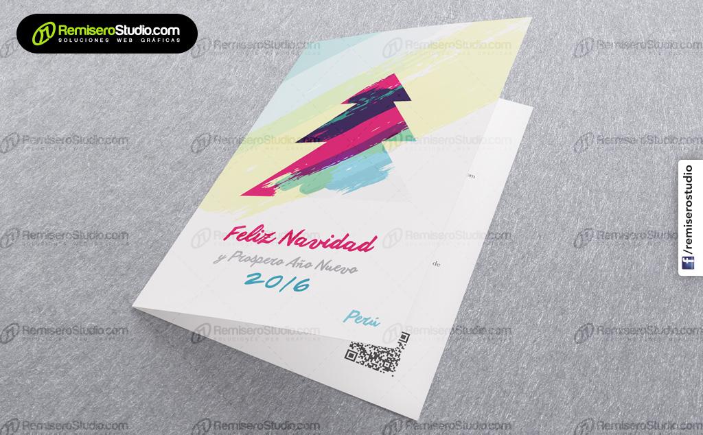 Tarjetas navideñas para empresas en Perú, nuevos diseños para la navidad 2015 - 2016