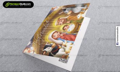 Tarjetas navideñas para empresas, nuevo diseño 2016 Nacimiento de Niño Jesus