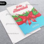 lazo-rojo-navideno-guirnalda--verde-tarjeta-navidad-empresas-2016-06