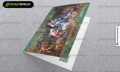 Nacimiento de Jesús en la nieve - Nuevo diseño tarjeta navideña, Empresas Perú 2016