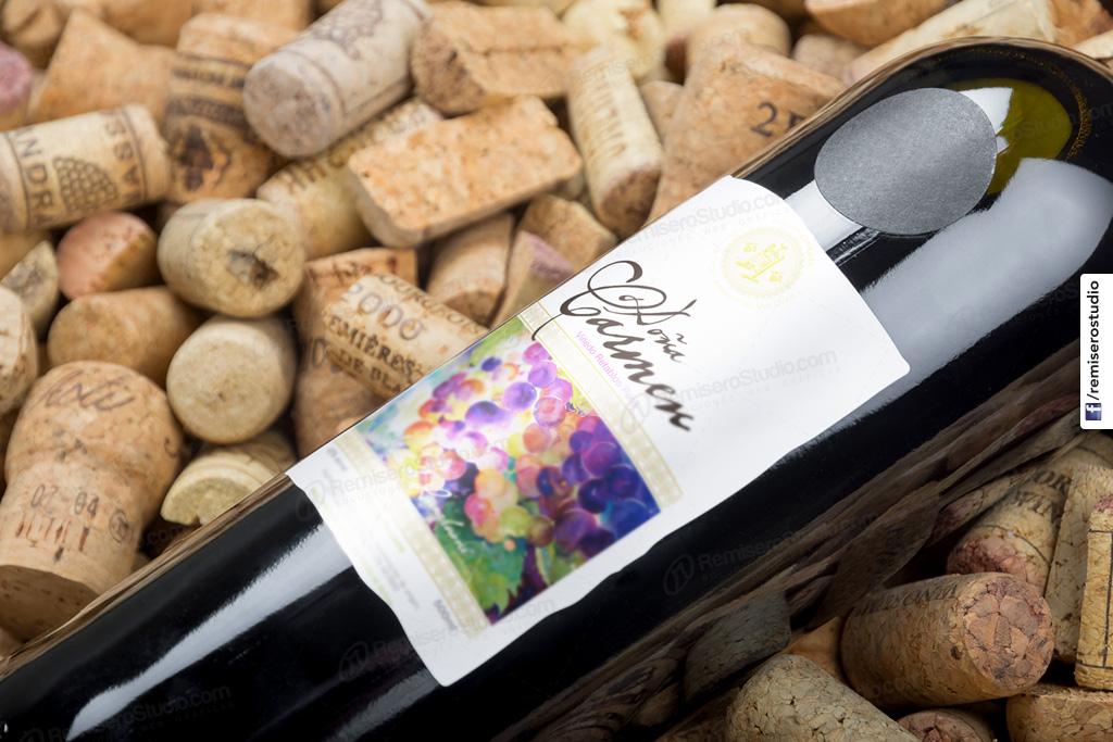 Etiqueta adhesiva Botella de Vino