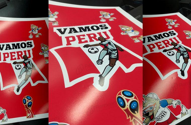 Afiches vamos Perú en papel fotográfico