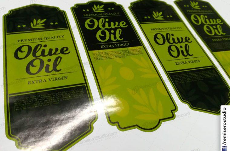 Etiquetas adhesivas para frascos de aceite de oliva – Olive Oil stickers label