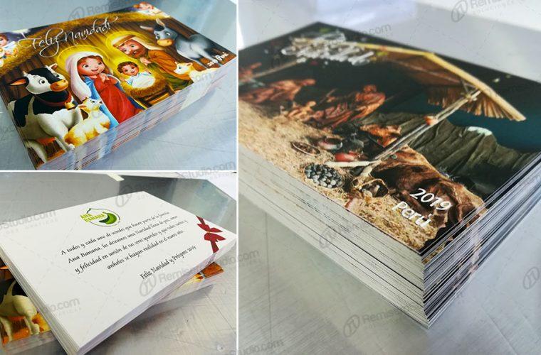 Tarjetas navideñas corporativas 10 x 15 tipo postal