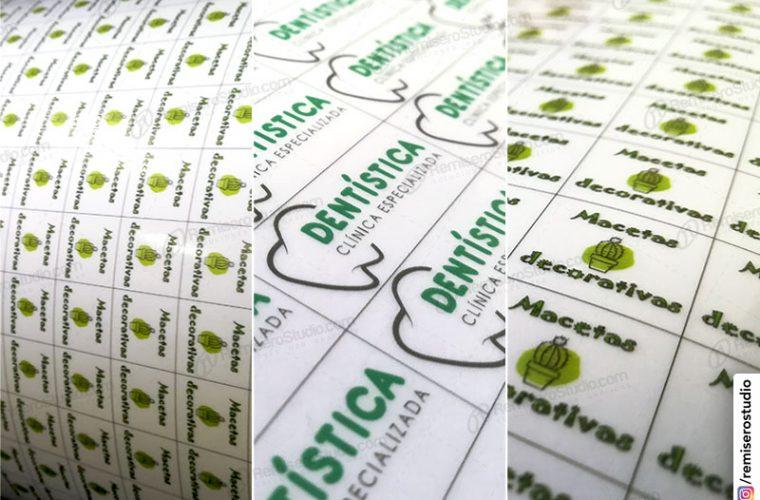 Etiquetas transparentes en vinil adhesivo