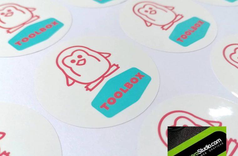 Etiquetas adhesivas para bolsas de papel