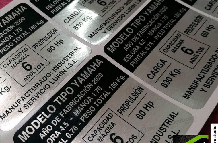 Etiquetas adhesivas metalizadas