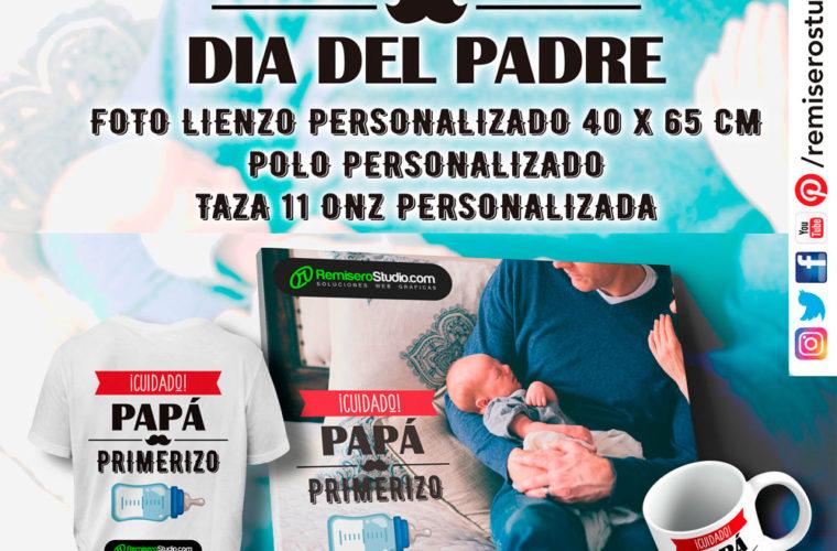 PACK PERSONALIZADO DÍA DEL PADRE (Lienzo + Polo + Taza)